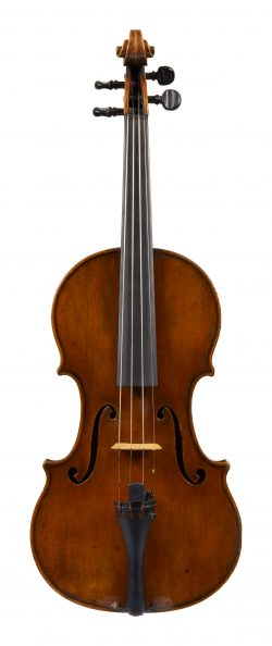 Front of a violin by George Craske, Stockport, circa 1800