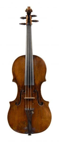 Front of a violin by Giovanni Battista Rogeri, Brescia, circa 1685