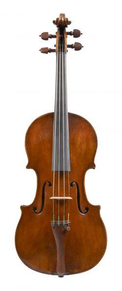 Front of a violin by Giovanni Gagliano, 1792