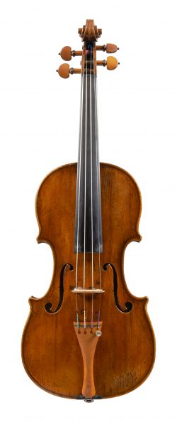 Front of a violin by Giuseppe Guadagnini, circa 1795
