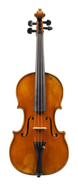 Front of a violin by Giuseppe Pedrazzini, Milan, 1921