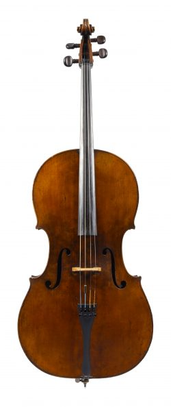 Front of a cello by John Betts, London, circa 1780