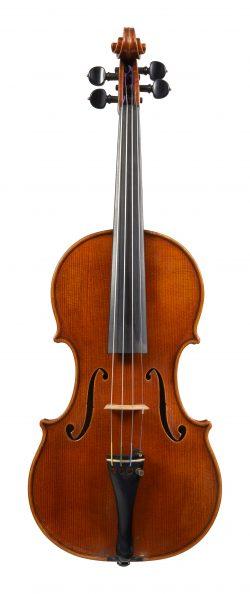 Front of a violin by Karel Vavra, Prague, 1940