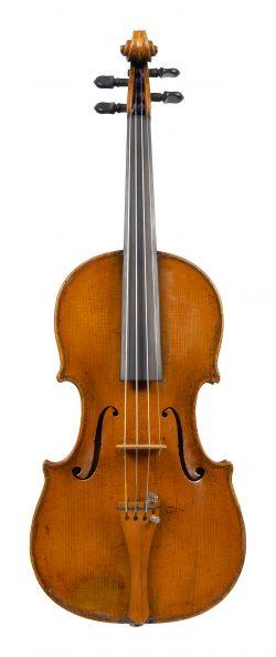 Front of a violin by Rémy Parizot, Nantes, circa 1800
