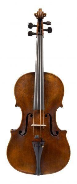 Front of a viola by Richard Duke, London, 1770