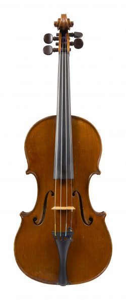 Front of a violin by Romeo Antoniazzi, Milan, 1906