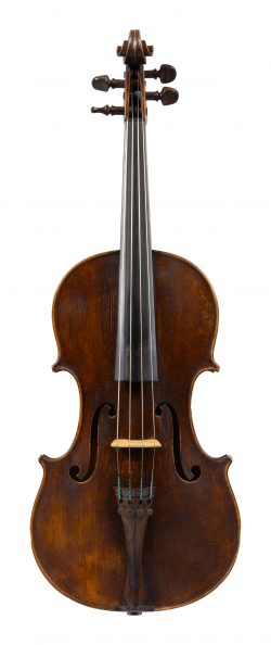 Front of a viola by Thomas Kennedy, London, 1838