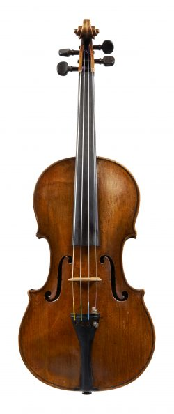 Front of a violin by Tomaso Eberle, Naples, 1777