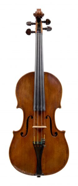 Front of a violin by Vincenzo Panormo, London, circa 1800