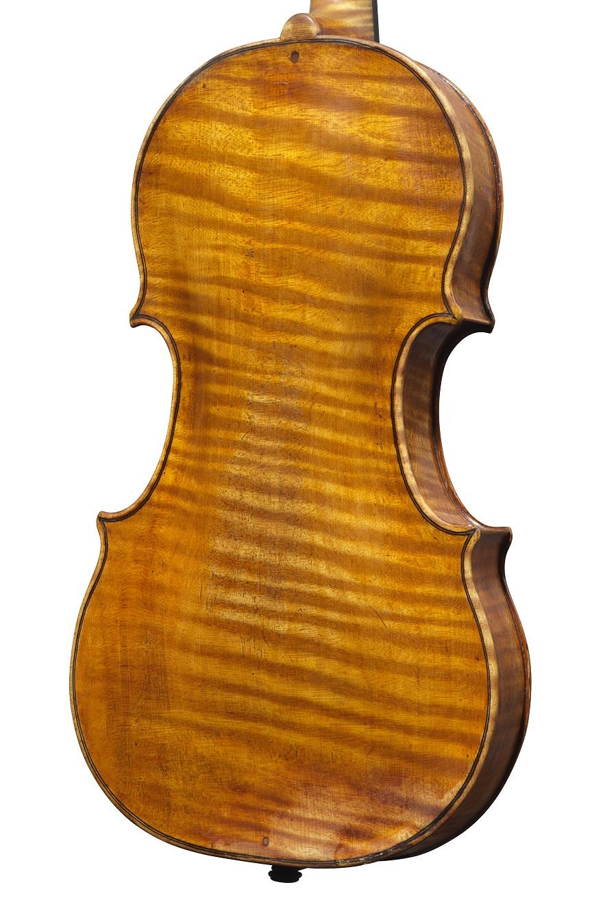back of a violin by Camillo Camilli, Mantua, circa 1745