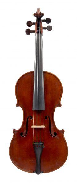 Front of a violin by Enrico Clodoveo Melegari, Turin, 1886