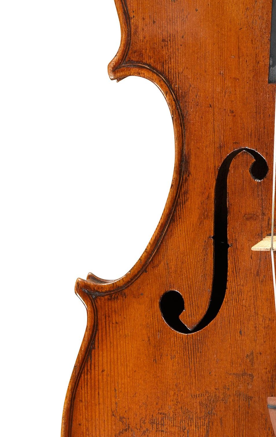front of a viola by Giuseppe Dall'Aglio, Mantua, c1830