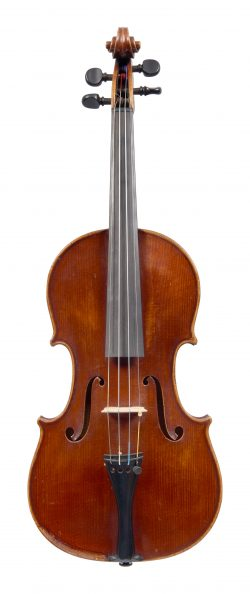 Front of a violin by Pauli Merling, Copenhagen, 1937