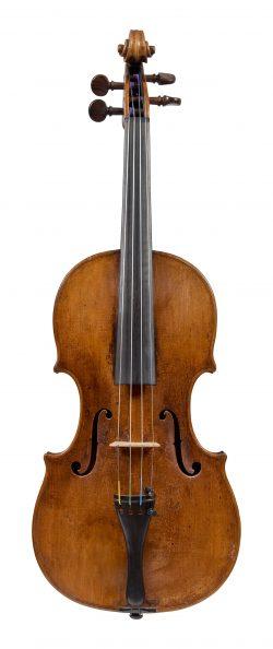 Front of a violin by Aegidius Kloz, Mittenwald, 1772