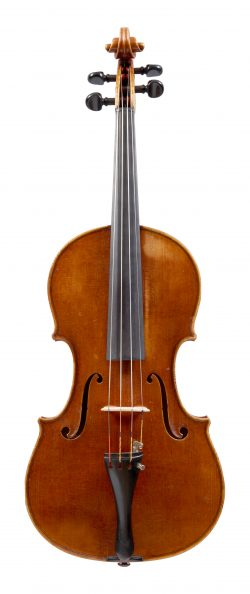 Front of a viola by Albert Blanchi, Nice, 1924