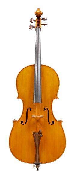 Front of a cello by Aldo Zani, Cesena, 1978