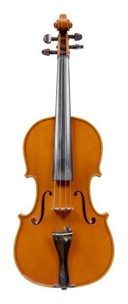 Front of a violin by Aldo Zani, Cesena, 1970