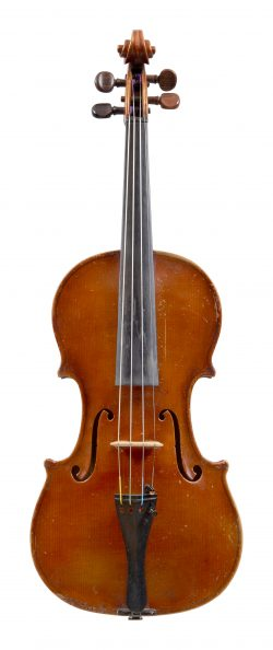 Front of a violin by Alfredo Contino, Naples, 1916