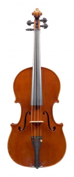 Front of a viola by Annibale Fagnola, Turin, 1925