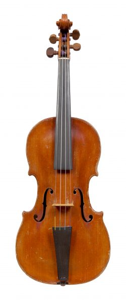 Front of a violin by Antoine Didelin, Mirecourt, 1777
