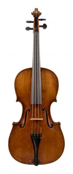 Front of a viola by Antonio Pelizon, Gorizia, 1814