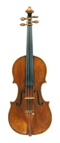 front of a violin by Antonio Stradivari, Cremona, 1695, Ex-Goetz