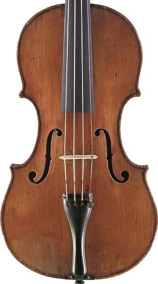 Front of a violin by Antonio Zanotti, Mantua, circa 1720
