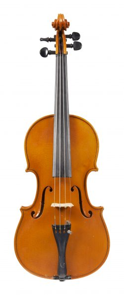 Front of a violin by Archimede Orlandini, Parma, 1976