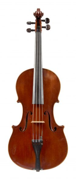 Front of a viola by Arthur Richardson, Crediton, 1938