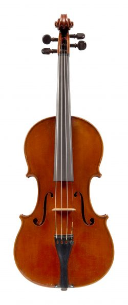 Front of a violin by Arthur Richardson, Crediton, 1936