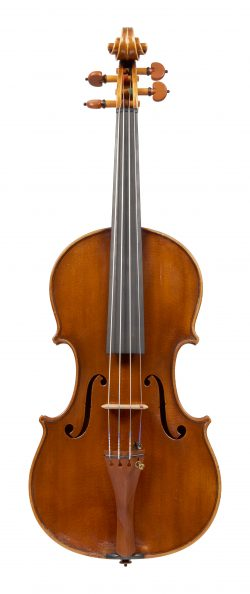 Front of a violin by Arturo Fracassi, Cesena, 1940