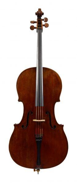 Front of a cello by Auguste Sébastien Philippe Bernardel, Paris, 1836