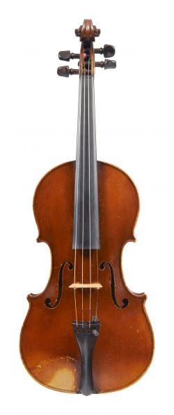 Front of a violin by August Sebastien Bernardel, Paris, 1865