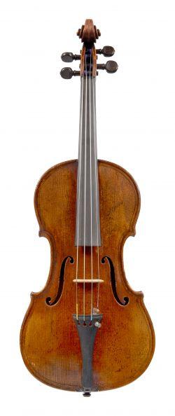 Front of a violin by Auguste Sébastien Philippe Bernardel, Mirecourt, 1829