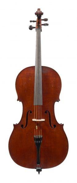 Front of a cello by Auguste Sébastien Philippe Bernardel, Paris, 1830