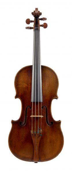 Front of a violin by Benjamin Banks, Salisbury, 1779