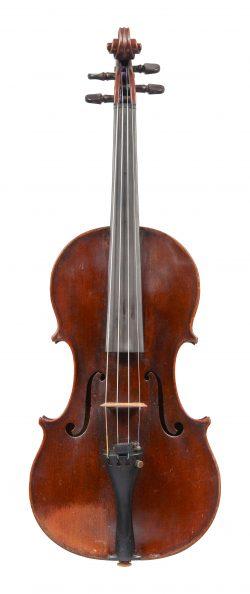 Front of a violin by Benjamin Banks, Salisbury, c1780, ex-Albert Cooper