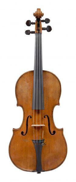 Front of a violin by Bernardo Calcagni, Genoa, circa 1740