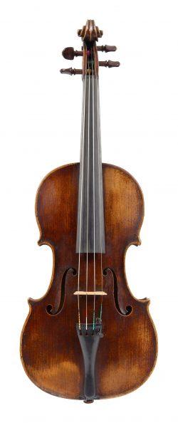 Front of a violin by Bernhard Fendt I, London, c1810
