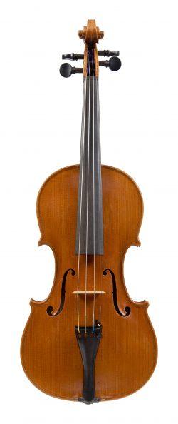 Front of a violin by Bruno Barbieri, Mantua, 1967