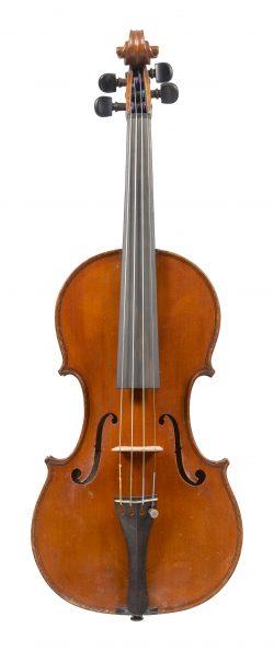Front of a violin by Camillo Mandelli, Milan, c1930