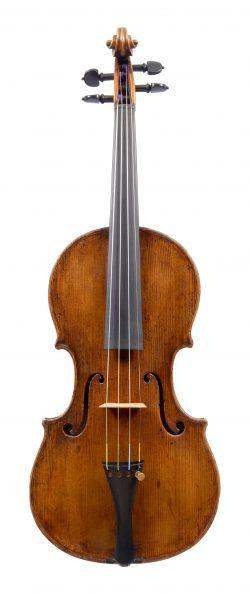 Front of a violin by Carlo Antonio Testore, c1760