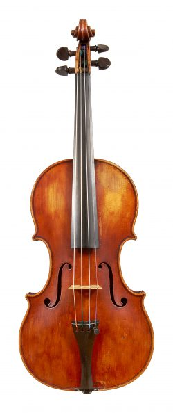 front of a violin by Carlo Bisiach, Florence, 1922