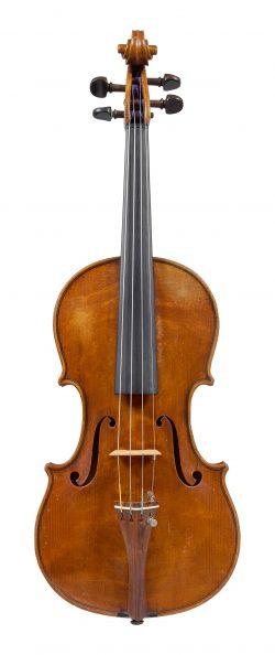 Front of a violin by Carlo Carletti, Pieve di Cento, circa 1925