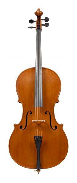 Front of a cello by Carlo de March, Venice, 1966