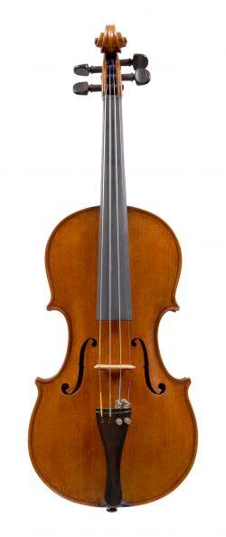 Front of a violin by Carlo de March, Venice, 1956