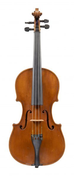 Front of a violin by Carlo Loveri, Naples, 1880