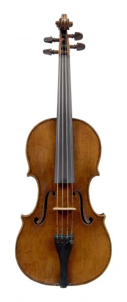 front of a violin by Carl Tononi, Venice, 1709