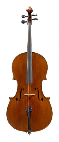 Front of a cello by Celeste Farotti, Milan, circa 1915