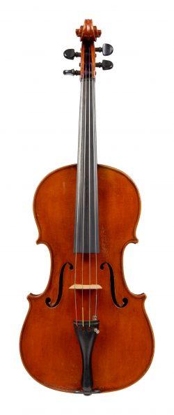 Front of a viola by Cesare Federico Pollastri, Bologna, 1949